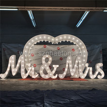 Tendone personalizzato lettera segno led light up lampadina lettera per la decorazione dell'interno marquee lettera luci