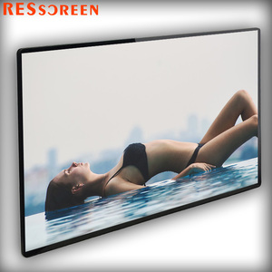 Resscreen 70 inch in full hd media player android 10 point IR touch screen wall mount kiosk