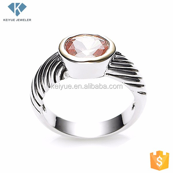 Factory Supply The pursuit of individuality moroccan silver ring jewelry