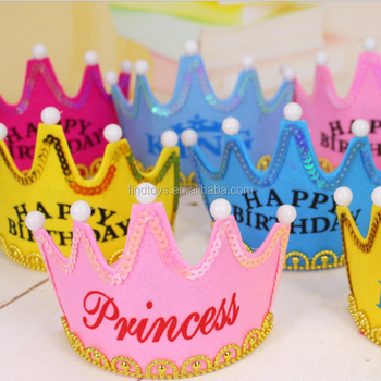 2018 New Production Led Birthday Hat Light Up Crown