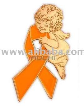 Orange Leukemia Awareness Ribbon Angel Pins - Buy Pink Ribbon Cancer  Awareness Aids/hiv Ovarian Cancer Pin Product on Alibaba com
