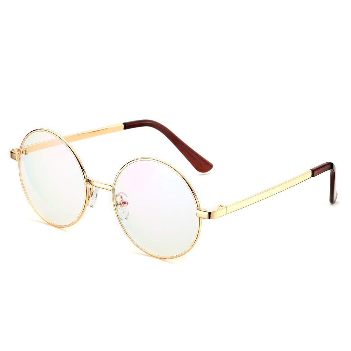 5955310ae8f Get Quotations · PenSee Optical Metal Round Circle Glasses Eyeglasses  Eyewear Frames
