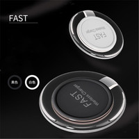 9V 1.8A Crystal LED Light Fantasy Qi Stand Fast Charging Cell Phone Wireless Charger For Samsung S8/S9