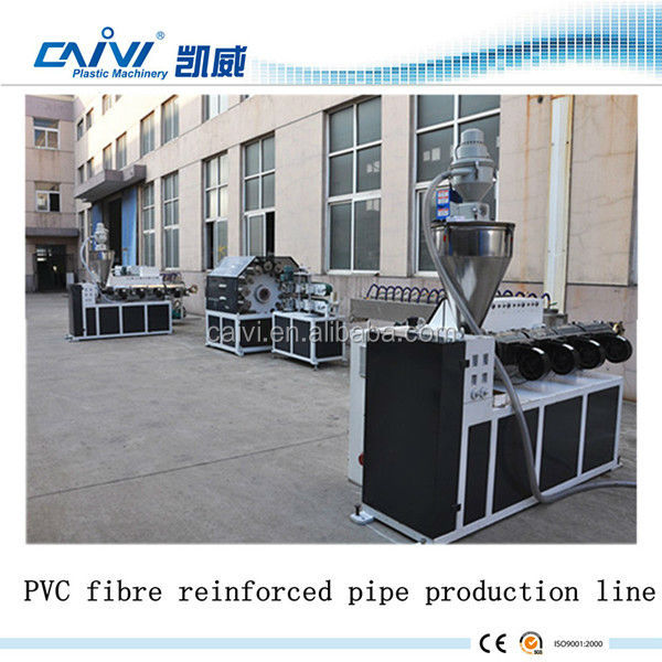 PVC Fiber Soft Pipe Machine garden hose machinery pvc fiber enhance pipe production line