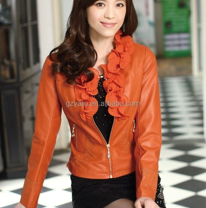 2015 Spring Women Green Leather Jacket In China Buy Green Leather