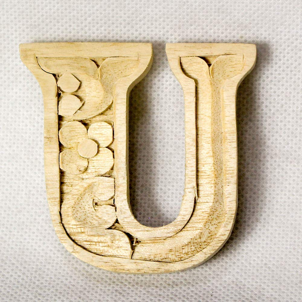 Wooden alphabet letters home decor DIY woodden letters wood carving wooden unfinished wooden letters paint unfinished wall decoration craft silhouette 6cm 9cm 15cm 2.36in 3.54in 5.9in U