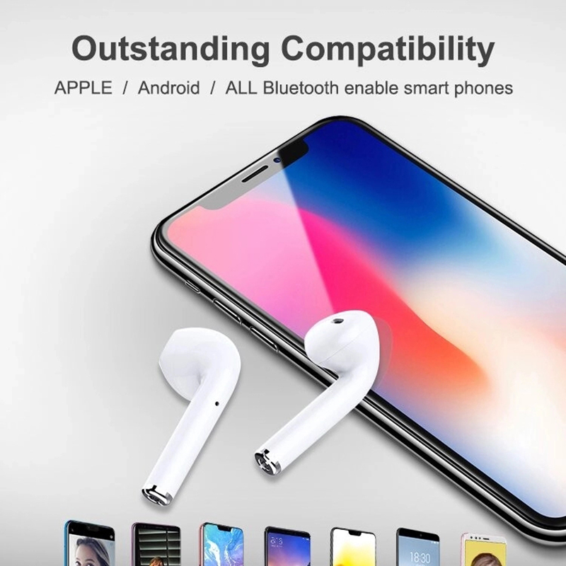 2019 Tws I12 Touch Kontrol Nirkabel Telepon Earphbudsfor I7 I9S I10 Tws I12 Earpod In-Ear Stereo Bass untuk Android iPhone