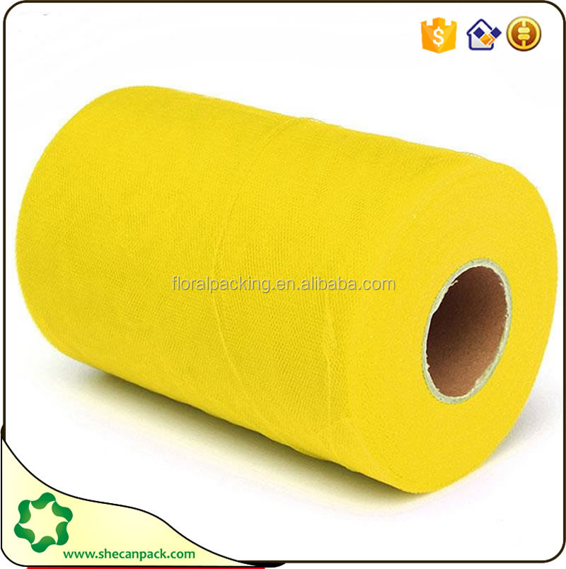 discount Yellow tulle rolls wholesale