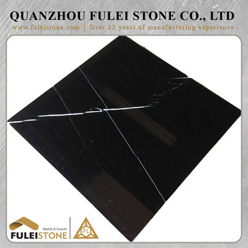 Latest technology polished natural black marquina marble