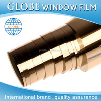 Removable 1.52x30M Gold Security Heat Resistant Solar Window Film