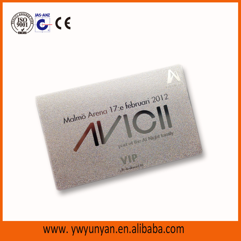 custom cheap luxury metal business card