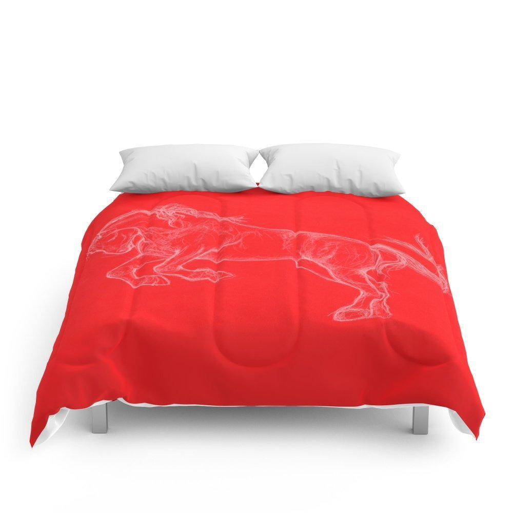 """Society6 Horse Comforters King: 104"""" x 88"""""""