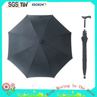 2014 new arrival walker seat umbrella for walking stick