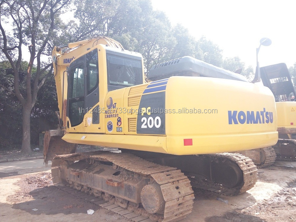 Used Japanese Excavator Komatsu PC200-8 hydraulic crawler large digger cheap for sale