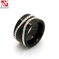 Top Grade Tungsten Ring With Crystal For Mens/Women Black Diamond Ring BHR0019