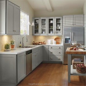 Grey Painted Shaker Solid Wood Kitchen Cabinet Imported from China Professional Factory with15years+
