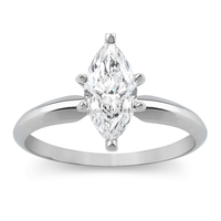 Wholesale diamond pave white gold palted stainless steel marquise ring