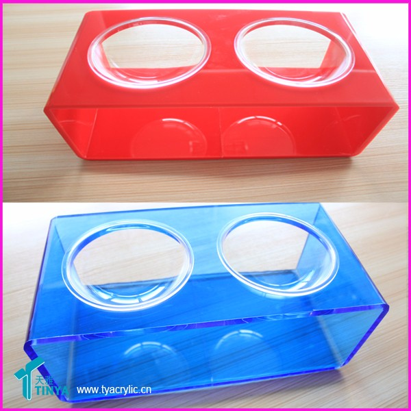 Acrylic Pet Bowl For Dogs And Cats,Acrylic Stand With 2 acrylic Bowls
