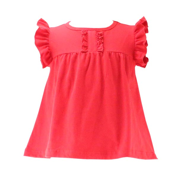 Summer Classic Simple Design Baby Clothes Solid Knit Cotton Good Quality Childrens Clothing Baby Girls Soft Tunic
