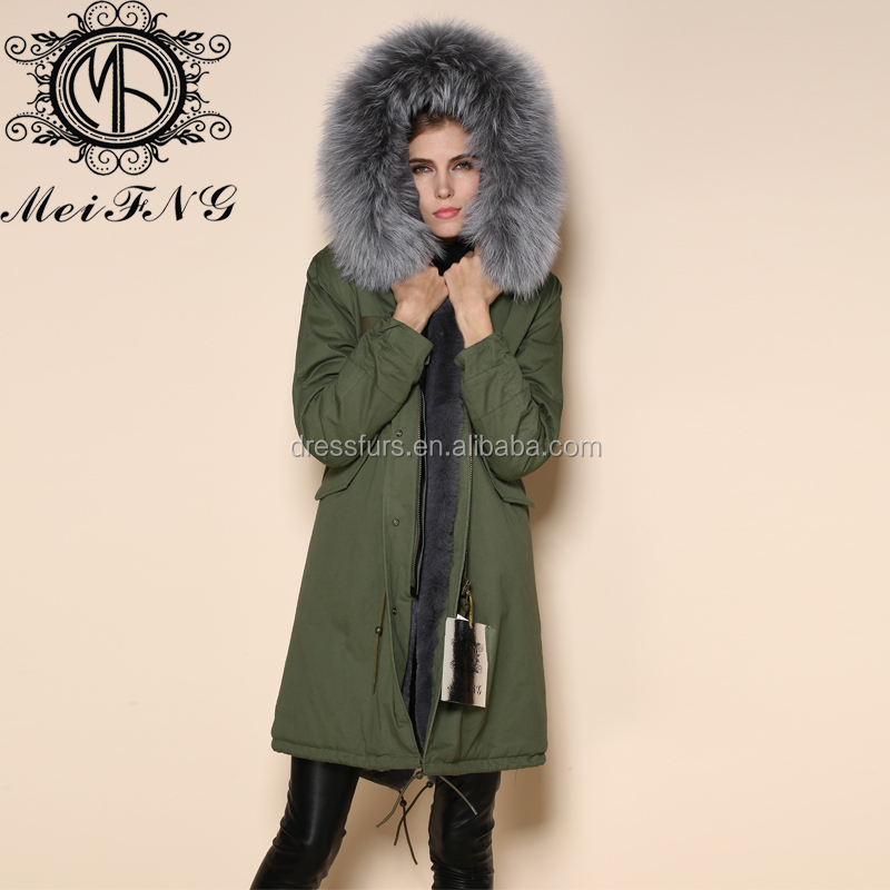 Turkey Outdoor Grey Fashion Military Winter Parka Jacket Women ...