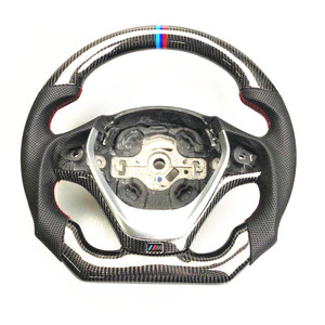 AUTO CARBON FIBER RACING CAR STEERING WHEEL FOR BMW 2/3/4/5/6/7 Series Sports