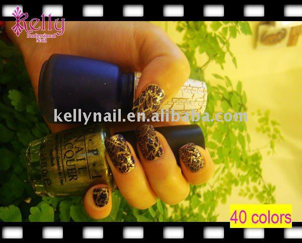 Hot Sell 40 colors Cracked Nail Polish crack nail polish Cracked Nail Polish