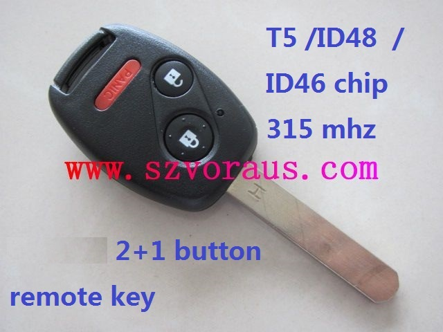 Ho 2+1 button remote key (1-7 generation)with T5/ID46 chip 315 mhz , auto remote key