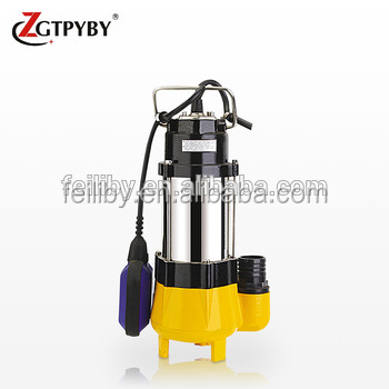 V series 1 inch small slurry pump 250W stainless steel submersible sewage pump in basement