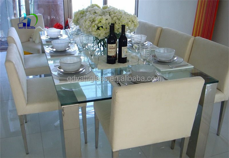 555mm Laminated Cracked Glass Table Top Cracked Laminated Glass