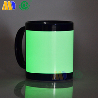 Mida manufacturer 11oz full color ceramic mug Luminous cup for sublimation printing