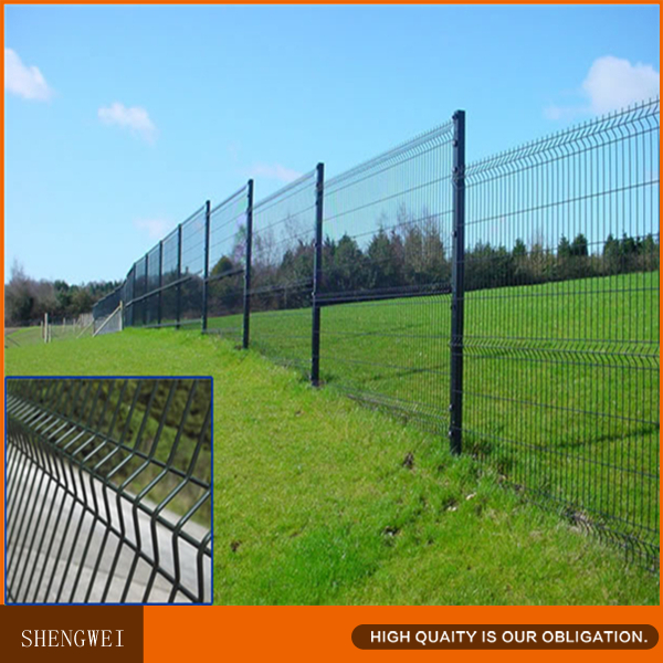 Rectangle Post Electric Wire Security Welded Mesh Fence System Made In China