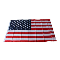 Hot 2017 American Flag USA Sewn Stripes Embroidered Stars Brass Grommet US Polyester Flag