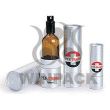 Creative Silver Paper Tube For Perfume / Essential Oil Bottles