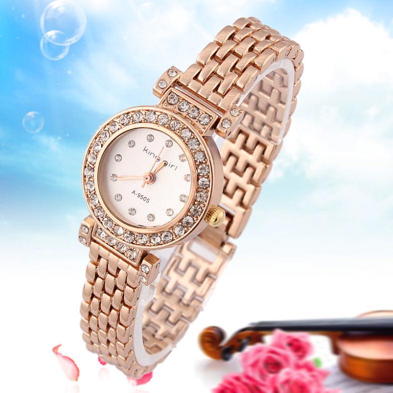 e5e931218 Get Quotations · 2015 Relogios King Girl Relogio Feminino Watch Women Quartz  Crystal Watch Alloy Round Acrylic Casual Quartz