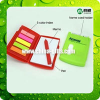 Memo holder with Page marker,name card and a pen