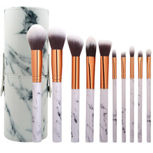 10 개 대리석 nylon 메이 컵 brush set 와 brush bucket