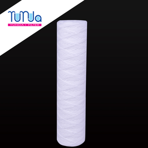 custom cotton string 40 inch 5 micron pp yarn water filter cartridge