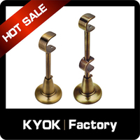 KYOK new products metal curtain rod bracket, Iron curtain rod bracket, tension curtain rods brackets