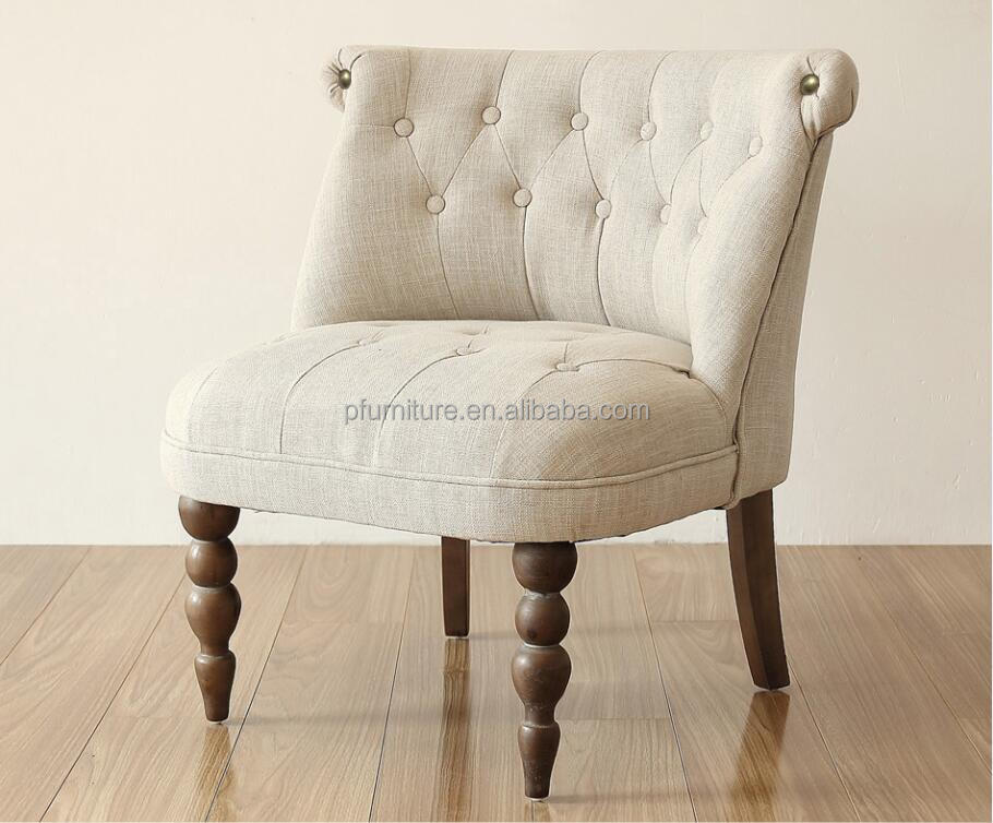 Modern Furniture Single Seat Sofa Fabric Leather Armless Chair Seats Antique Chairs Clic Seater