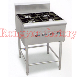 RY-04 4 heads gas stoves clay pot stoves Kitchen equipment cooker, boil, baker, stew, braise with electronic ignition valve