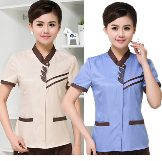 custom chantilly and slim fit cleaning staff uniforms wholesale, hotel housekeeping uniforms