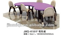 2012 JMQ-K181F bent children chairs tables,children writing table,children drawing table