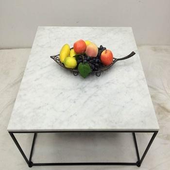 Salon Tafel Goedkoop.Goedkope Moderne Carrara Wit Marmeren Top Zwart Staal Salontafel Buy Moderne Carrara Marmer Wit Marmer Goedkope Zwart Staal Salontafel Product On
