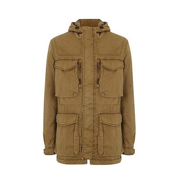 Custom Mens Cotton Cargo Jacket Multi Pocket Jacket Mens Safari