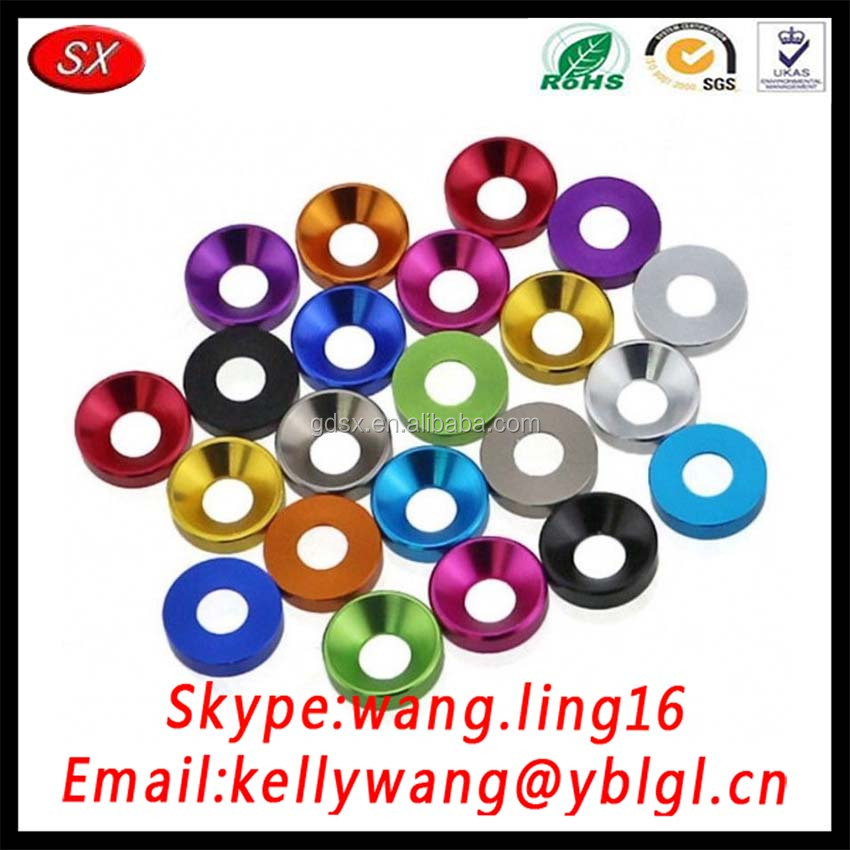 ISO 9001 Customized Fender Stainless Steel Countersunk Washer, Aluminum Pression Washers