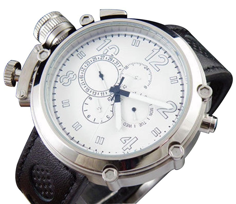 Parnis Big Face White Dial Automatic Self Winding Solid ...