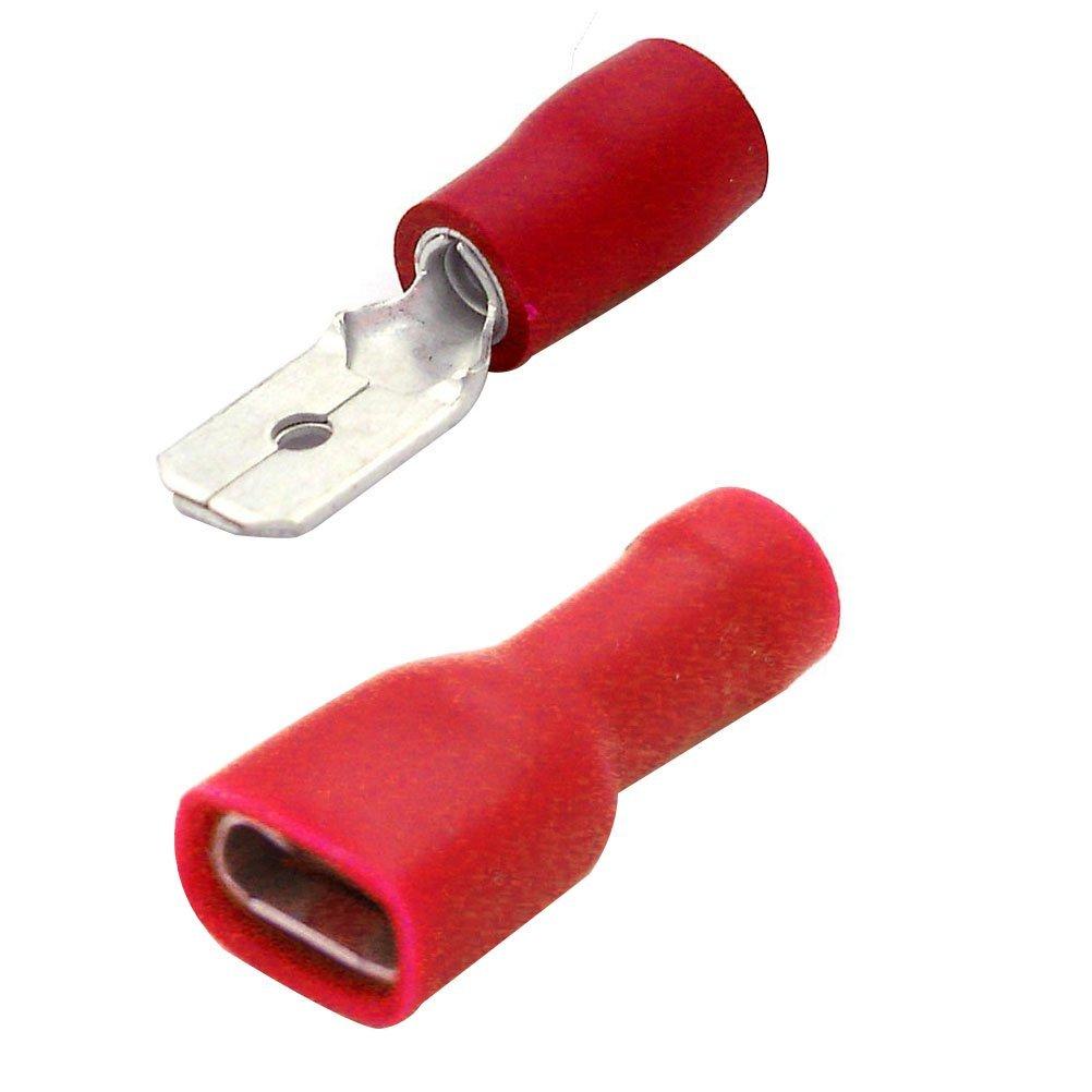 Buy NUOLUX 100pcs Male Female Insulated Spade Quick Splice Wire ...