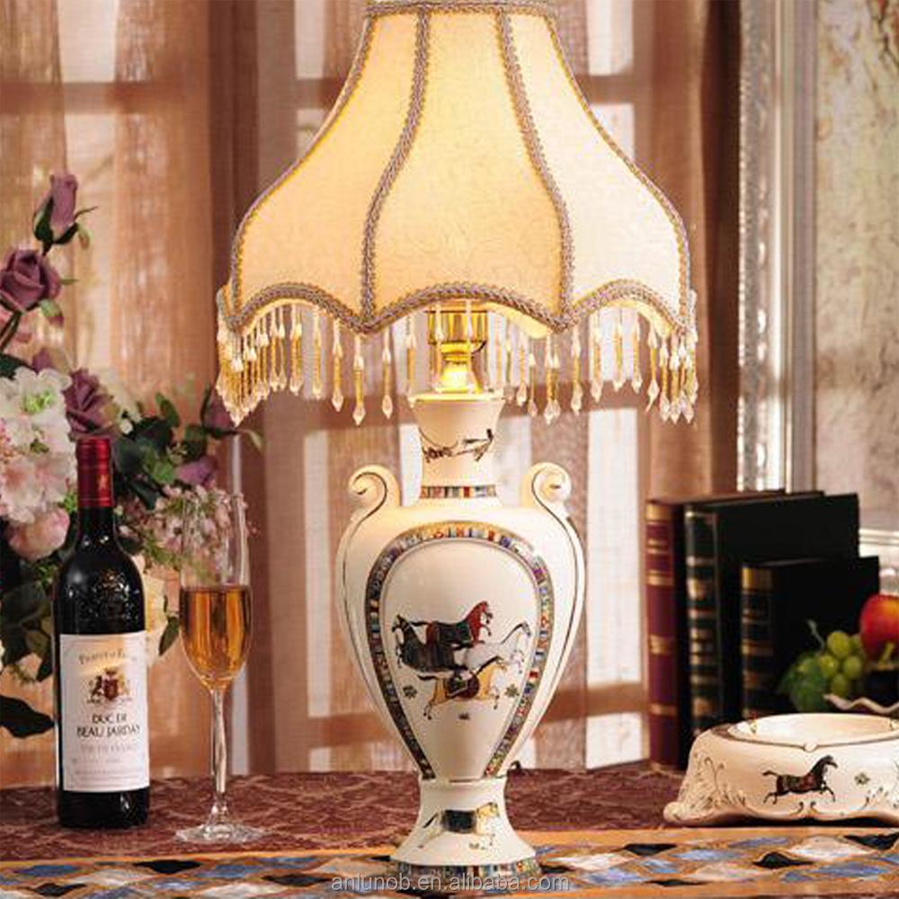 Neue produkte porzellan luxus barocken dekorativen licht - Schlafzimmer tischlampe ...