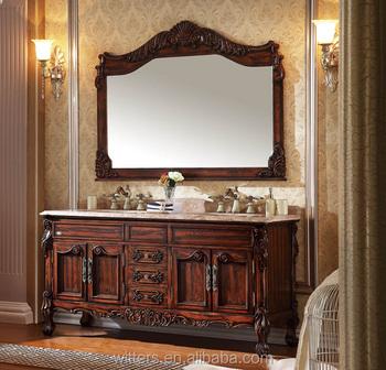 65 Inch Wood Antique Bathroom Vanity Cabinet No 812