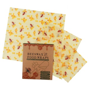 Assorted 3 Pack reusable beeswax food wrap sandwich wrap bees wax food wrap
